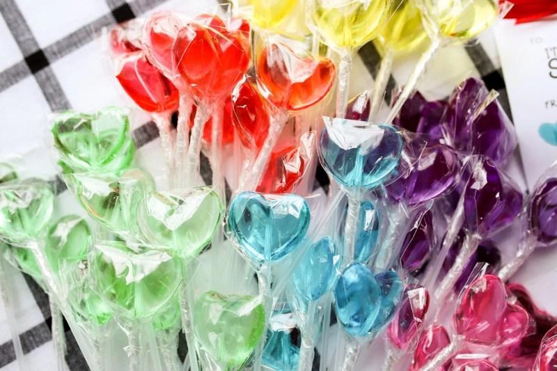 sparks sweets heart lollipops
