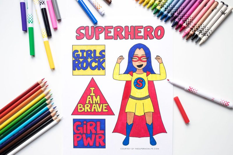 super hero girl coloring page