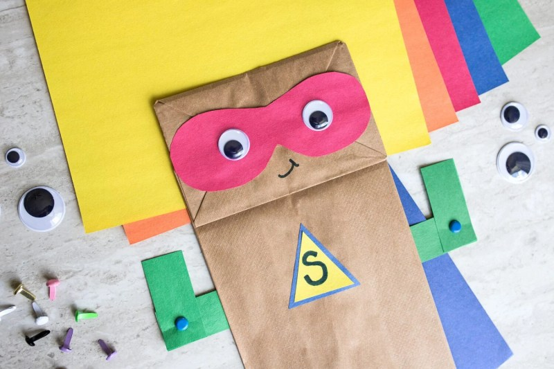 superhero paper bag craft idea