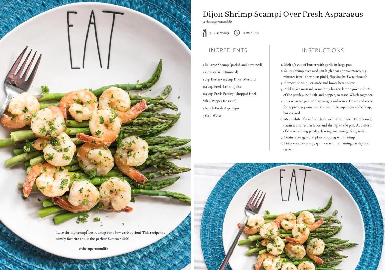 Rae Dunn Recipes Cookbook Dijon Shrimp Scampi