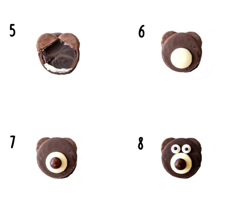 steps to make a teddy bear cookie