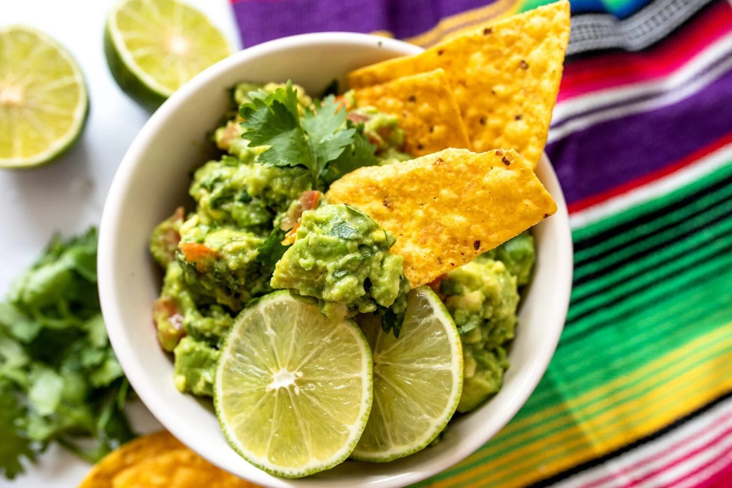bowl of homemade guacamole