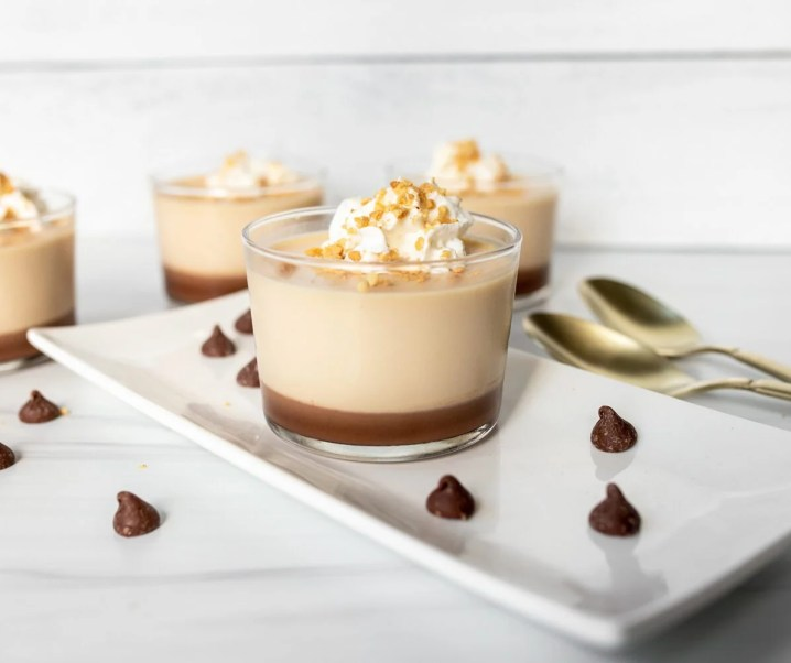 Caramel and Chocolate Panna Cotta