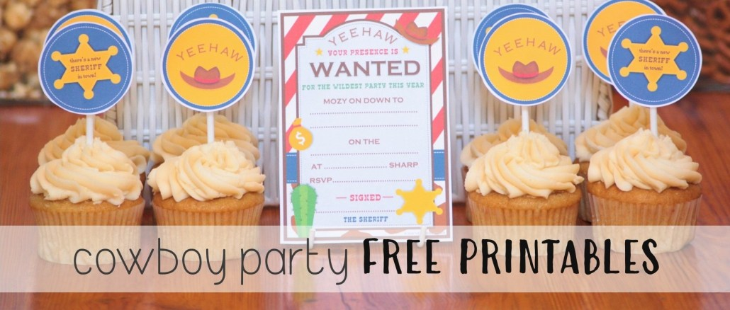 Cowboy Themed Birthday Party FREE PRINTABLE'S - The Supermoms Club