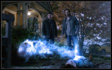 Sam and Dean Winchester watch Dark Charlie Bradbury and Good Charlie join together