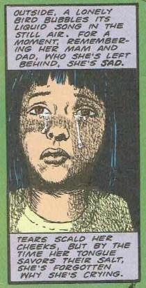 Gemma Masters, waiting and crying.