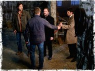 Dean gives the First Blade to Castiel, not Crowley