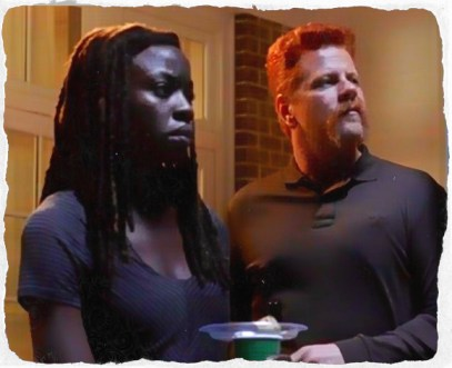 Abraham challenges Michonne to get comfortable in Alexandria