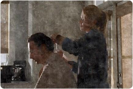 silk Jessie cuts Ricks hair Remember The Walking Dead
