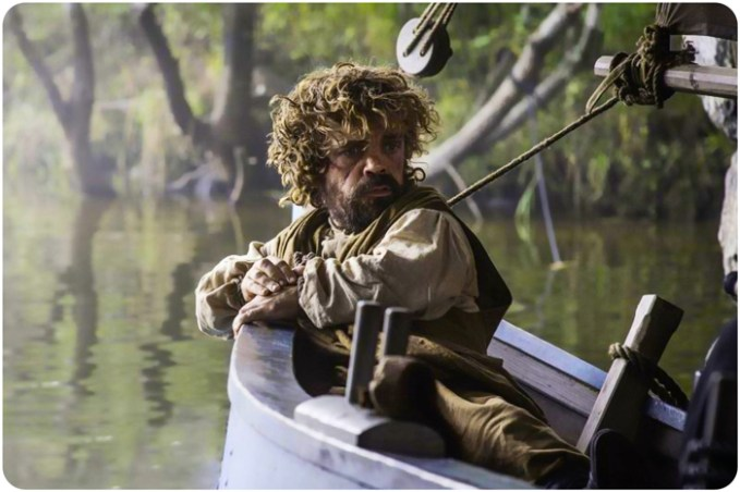 Tyrion Lannister in boat Game of Thrones Kill the Boy