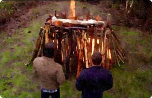 Sam Dean pyre start Supernatural The Prisoner