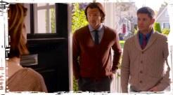 Dean Sam Winchester at door Supernatural Just My Imagination
