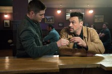 "Supernatural -- ""Beyond The Mat"" -- Image SN1115a_0276.jpg -- Pictured (L-R): Jensen Ackles as Dean and Aleks Paunovic as Gunnar Lawless -- Photo: Liane Hentscher/The CW -- © 2016 The CW Network, LLC. All Rights Reserved."