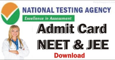 NEET Exam Admit card