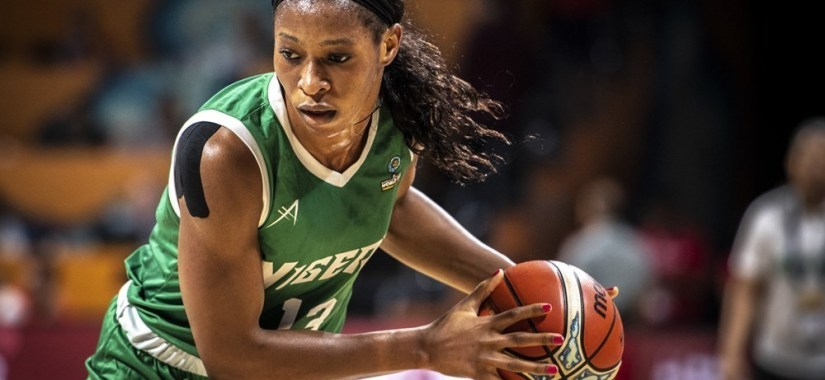 evelyn akhator led Nigeria to victory in their Afrobasket opener