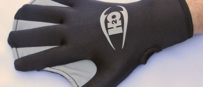 H2Odyssey Max webbed surfing Glove showing web