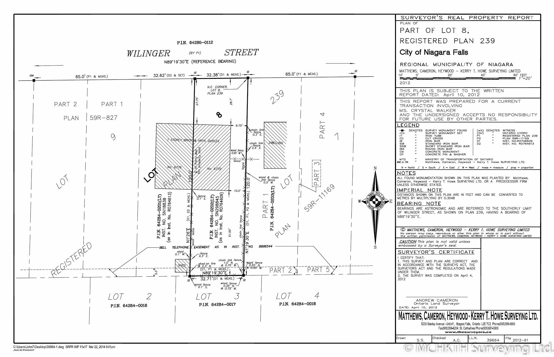 Matthews Cameron Surveyors Surveyor S Real Property Report