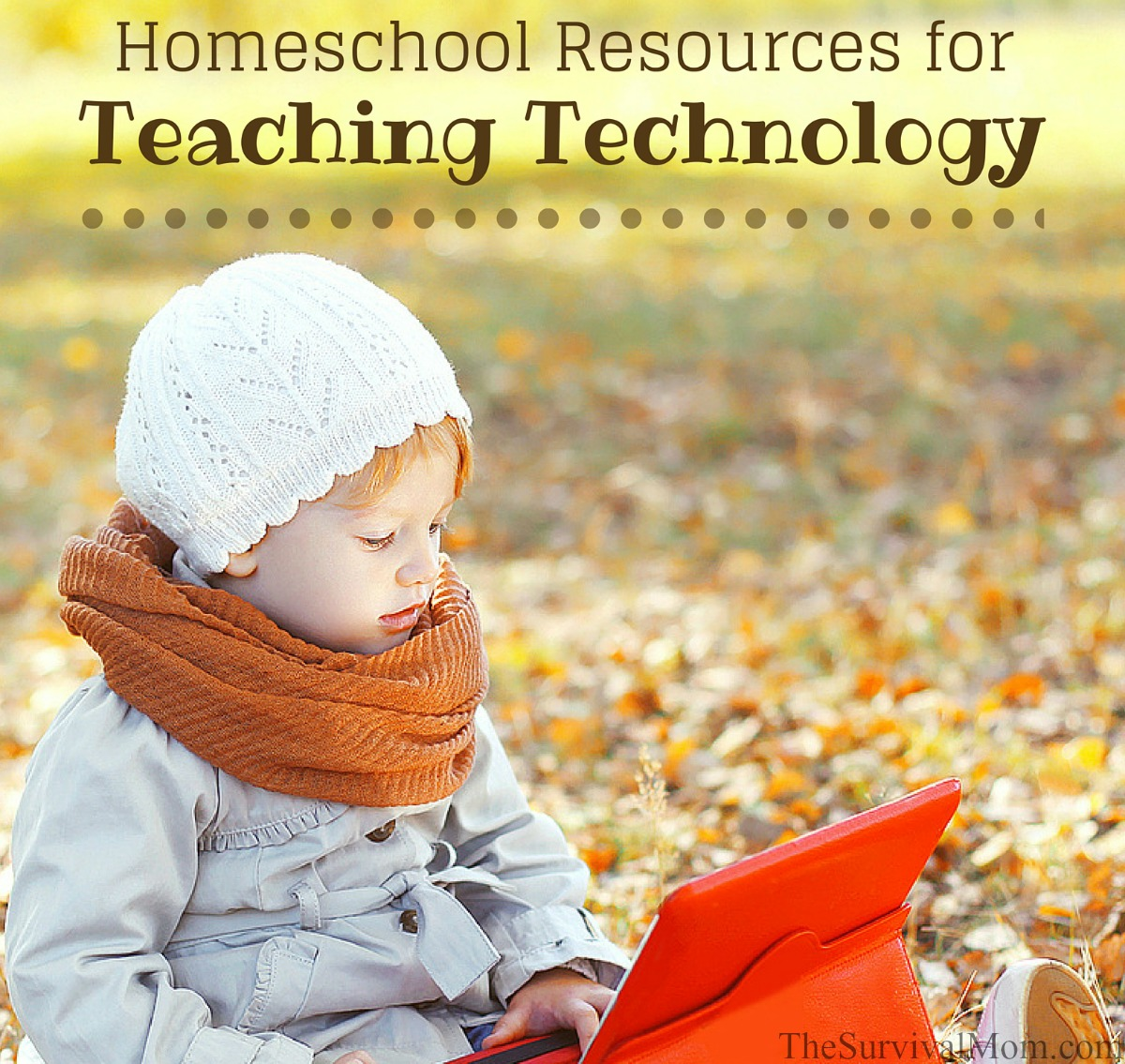 Homeschool Resources for Teaching Technology via The Survival Mom