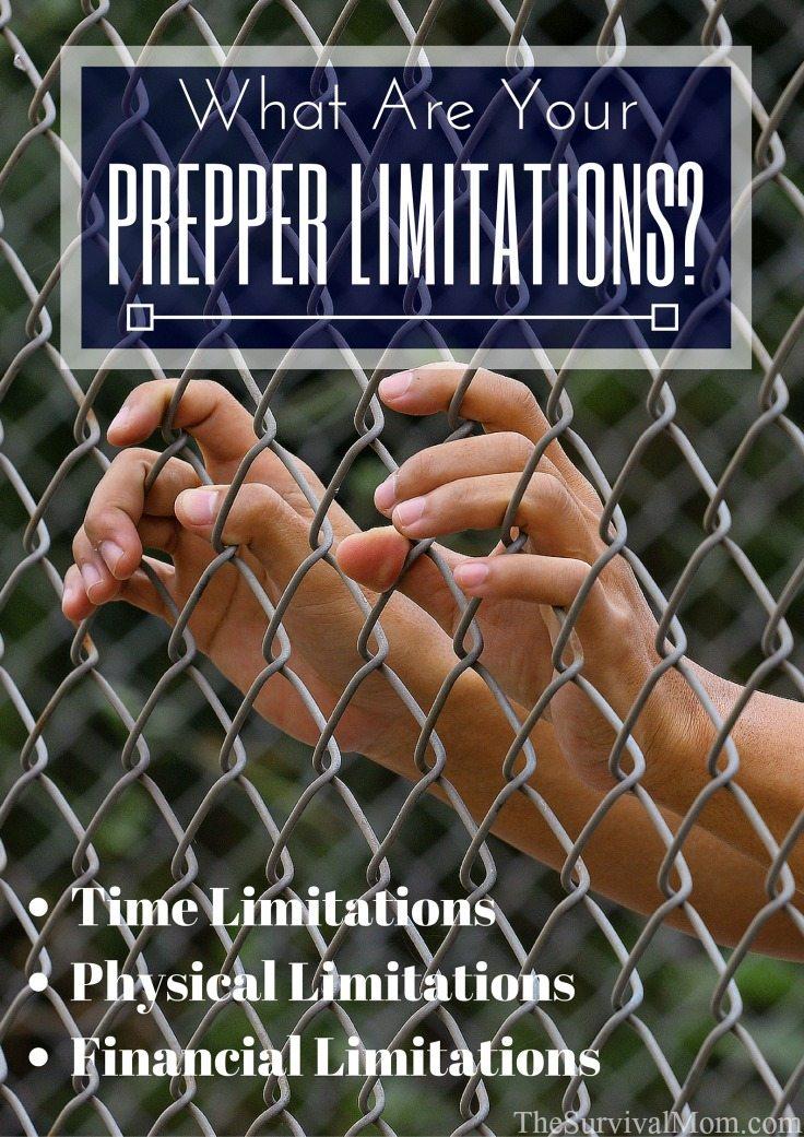 prepper limitations