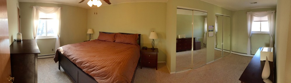 (This photo was taken with a wide angle lens. Walls may appear curved due to lens)