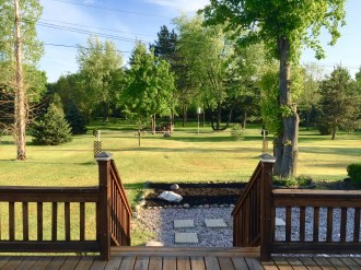 Beautiful view from the deck!