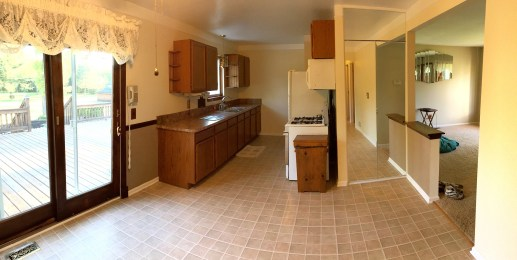 Kitchen/Dining area (Panoramic photo, walls may appear curved)