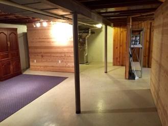 Large clean basement