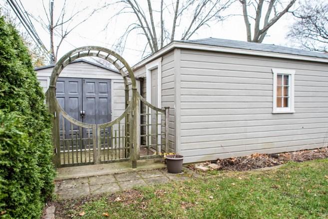 Extra storage behind garage