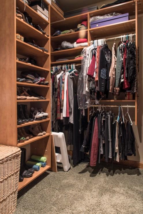 Stunning master walk in closet