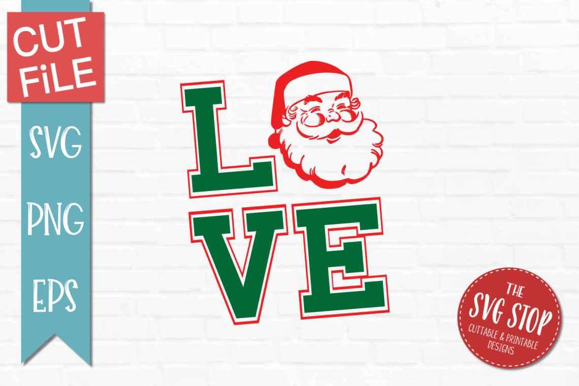 Download LOVE Santa Christmas SVG, DXF, PNG, EPS - Cut File