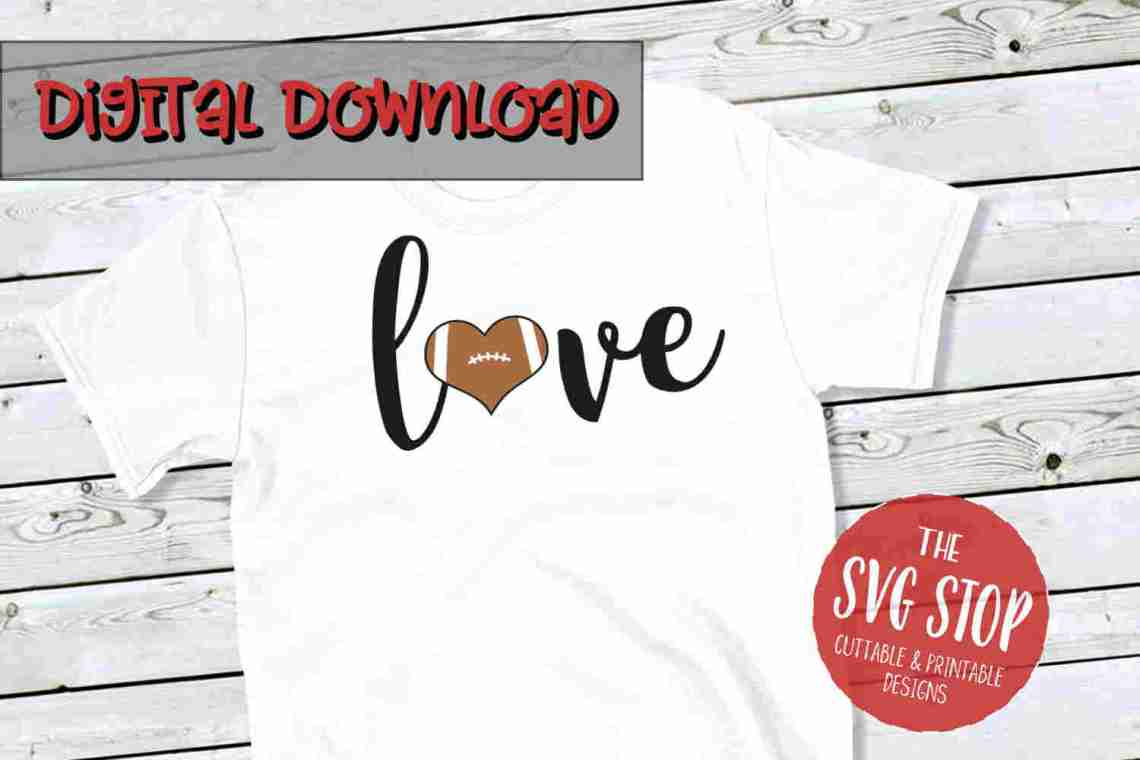 Download Love Football SVG, DXF, PNG, EPS - Cut File