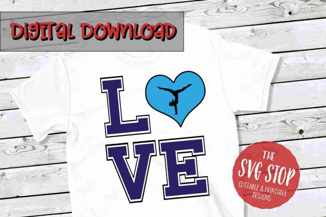 Download Love Gymnastics SVG, DXF, PNG, EPS - Cut File