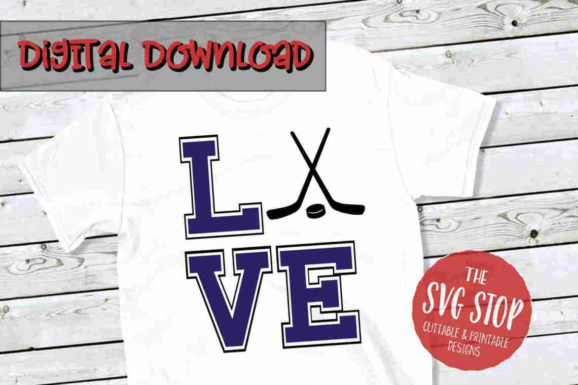 Download Love Hockey SVG, DXF, PNG, EPS - Cut File