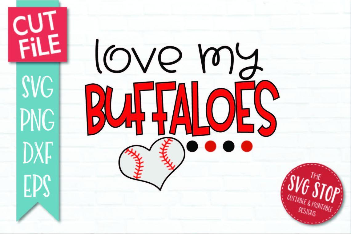 Download Baseball Love Buffaloes - SVG, DXF, PNG, EPS - Cut File
