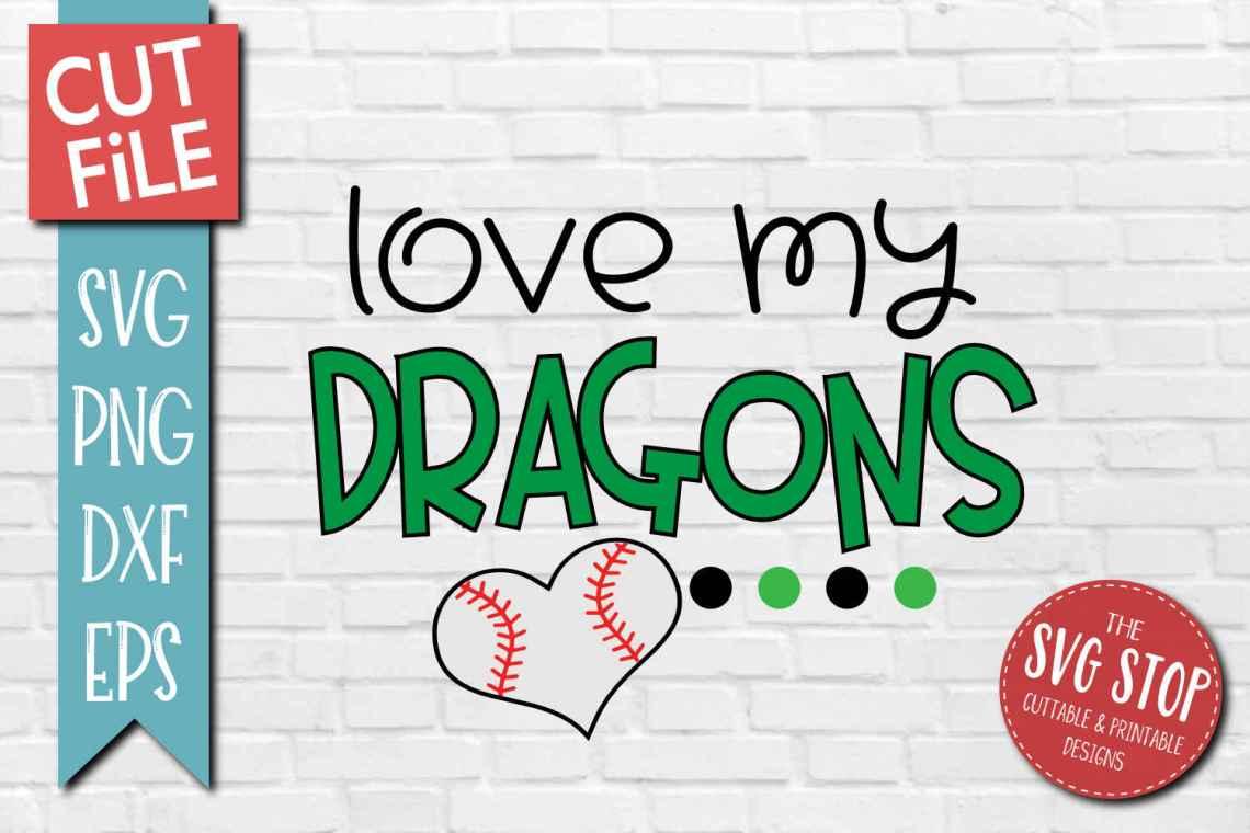 Download Baseball Love Dragons - SVG, DXF, PNG, EPS - Cut File