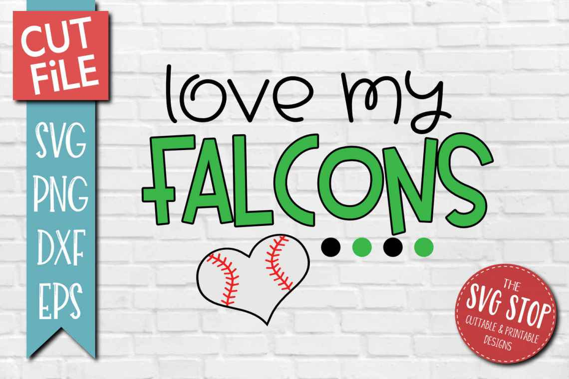 Download Baseball Love Falcons - SVG, DXF, PNG, EPS - Cut File