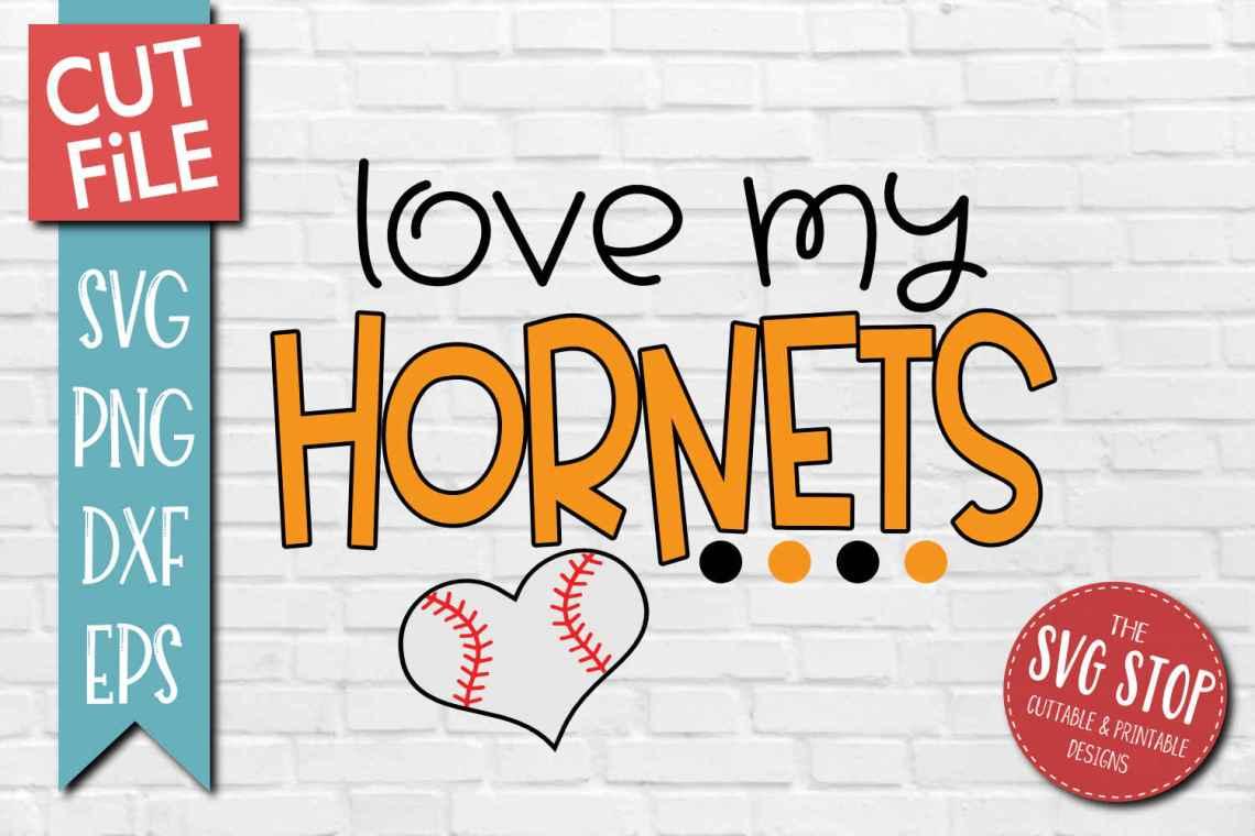 Download Baseball Love Hornets - SVG, DXF, PNG, EPS - Cut File