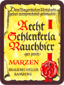Aecht Schlenkerla Marzen (Rauch), 500ml, 5.4% or 2.7 units - Smoked bacon with hints of almond