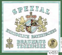 Tegernsee Spezial (Spezial), 500ml. 5.6% or 2.7 units - Dortmunder export lager