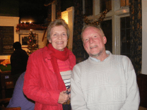 Landlord Phil Norther and partner Sue enjoy an evening in the Swan and Rushes.