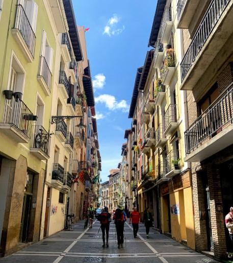 Camino de Santiago: Pilgrims in Pamplona