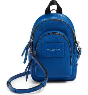 MARC JACOBS Mini Double Pack Leather Crossbody Bag Sapphire