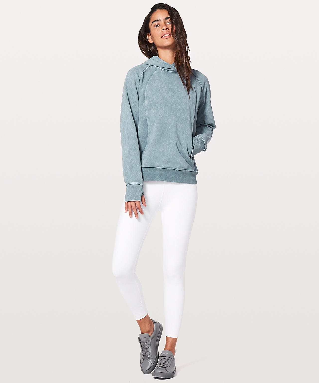 Scuba Pullover Washed Blue Charcoal