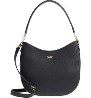 oakwood street – lora pebbled leather hobo KATE SPADE NEW YORK