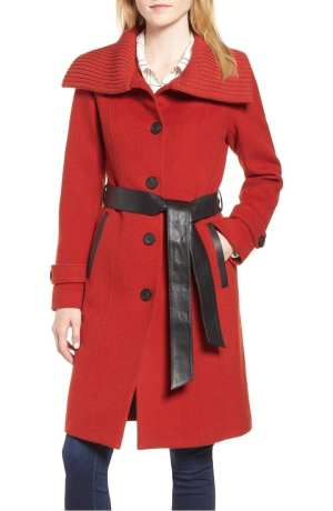 Flat Wool Knit Collar Coat MACKAGE 2018 Nordstrom Anniversary Sale
