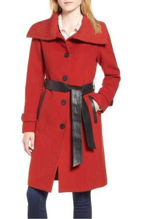 Flat Wool Knit Collar Coat MACKAGE