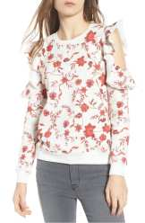 Gracie Cold Shoulder Floral Sweatshirt