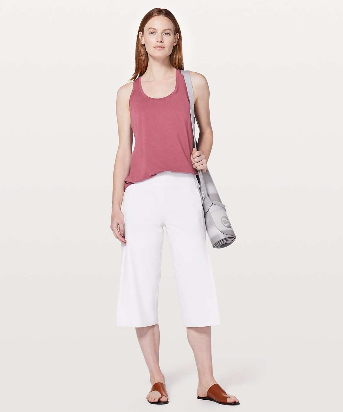 Lululemon Love Tank Pleated - Moss Rose