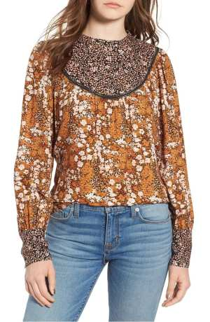 Mix Print Top HINGE