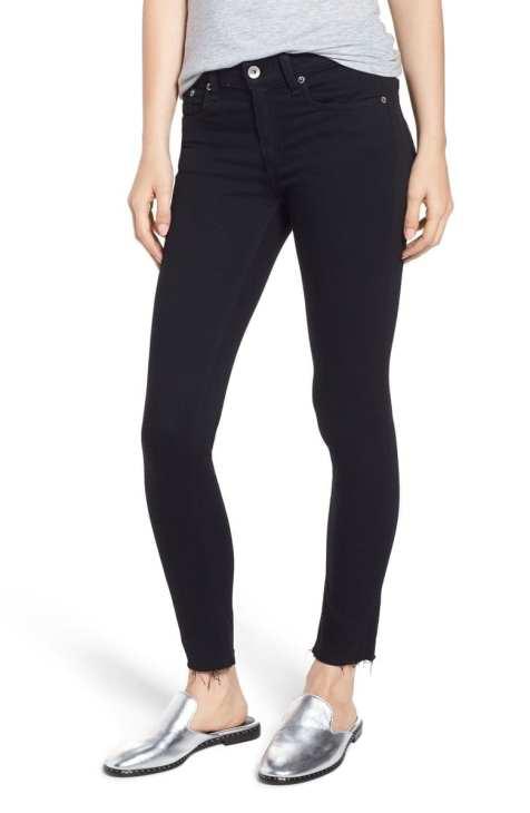 Raw Hem Ankle Skinny Jeans RAG & BONE:JEAN